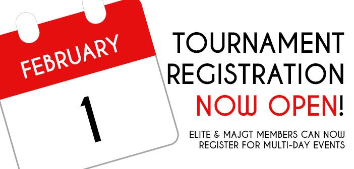Tournament Registration Now Open!